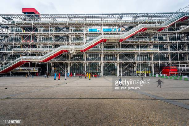 pompidou centre in paris - centre georges pompidou stock pictures, royalty-free photos & images