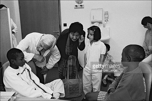 Pompidou Hospital Professor Deloche and Dr Nilab Mobarez with children sheltered by the 'chaine de l'espoir' charity Some have already been operated...