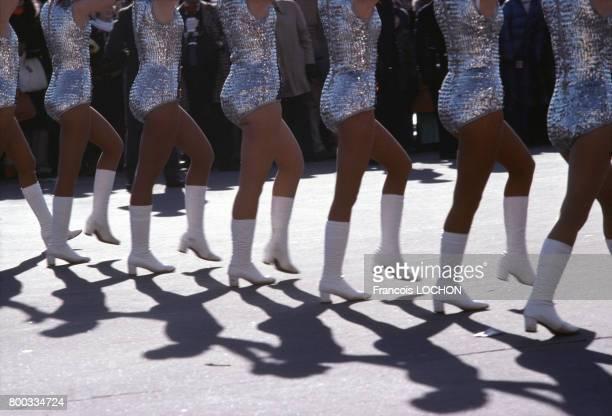 Pompom girls circa 1980 à Washington aux ÉtatsUnis