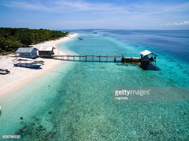 pompom island coral restoration facility - pom pom stock pictures, royalty-free photos & images