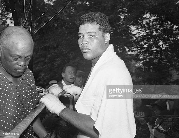 Pompton Lakes, NJ - Reports from the training camp of Joe Louis say the Heavyweight King is working up a mean grudge against challenger Max Schmelin,...