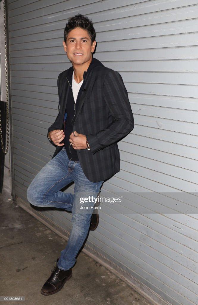 Poncho De Anda is seen at 'Despierta America' Univision Studios on January 12, 2018 in Miami, Florida.