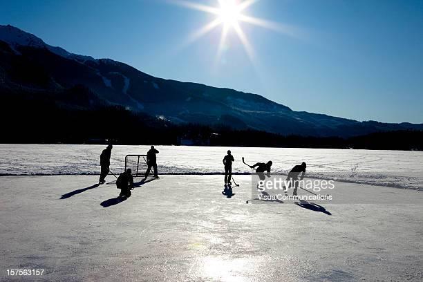 pond hockey.