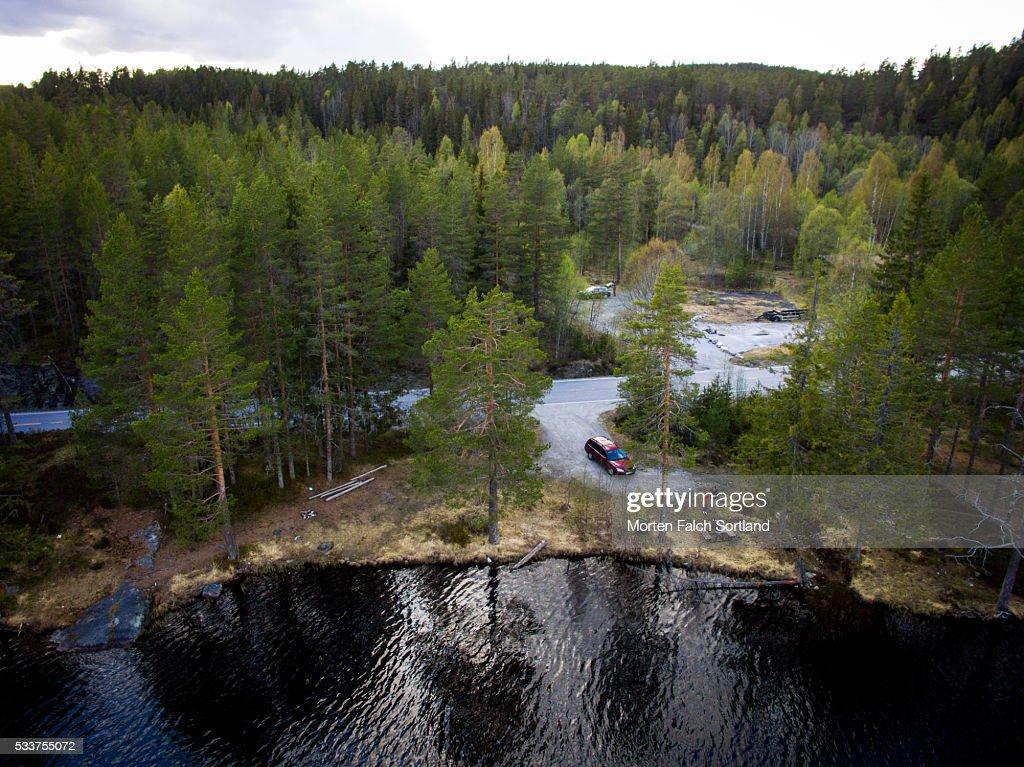 Pond in Telemark : Foto stock