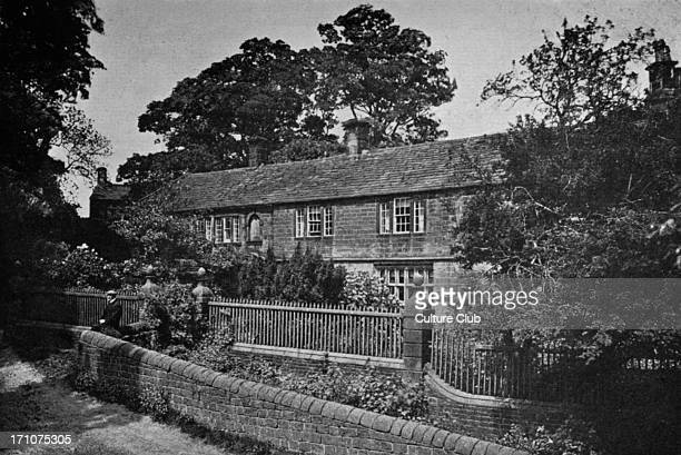 Ponden Hall Said to be Thrushcross Grange from Wuthering Heights novel by Emily Charlotte Brontë Photography by Mr WR Bland with Mr C Barrow Keene CB...