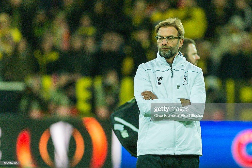 Borussia Dortmund v Liverpool - UEFA Europa League Quarter Final: First Leg : ニュース写真