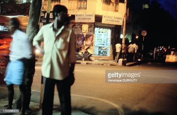 Pondychery by night in Pondicherry India