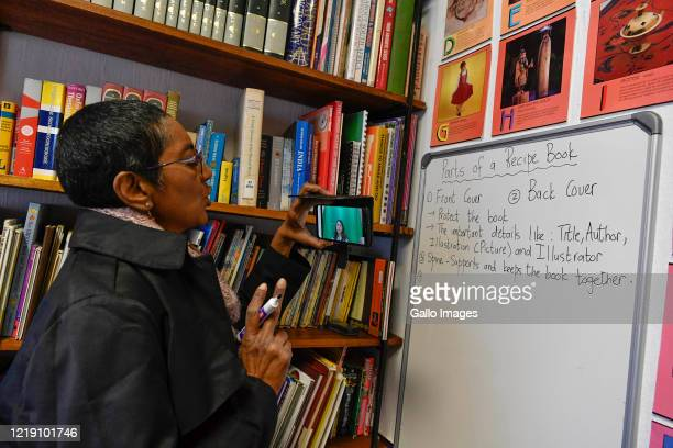 Ponnie Moodley educates her online students during an interview on June 09 2020 in Johannesburg South Africa The veteran educator of 31 years has...