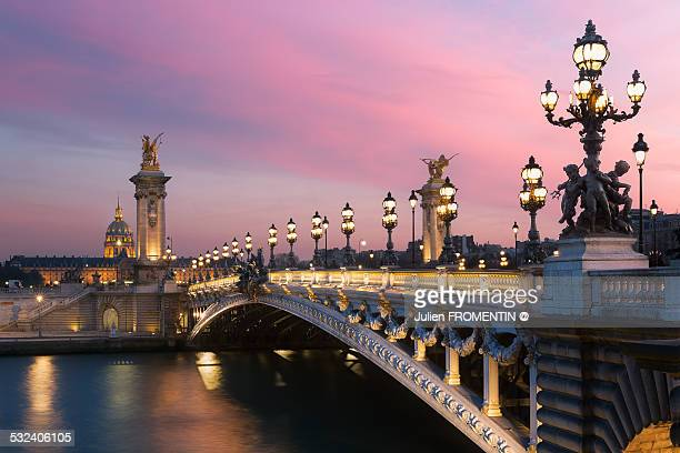 pont alexandre iii & les invalides - paris france stock pictures, royalty-free photos & images