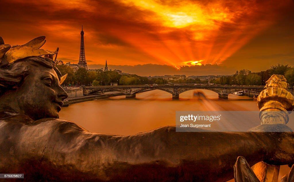 Pont Alexandre III Sunset III : Stock Photo