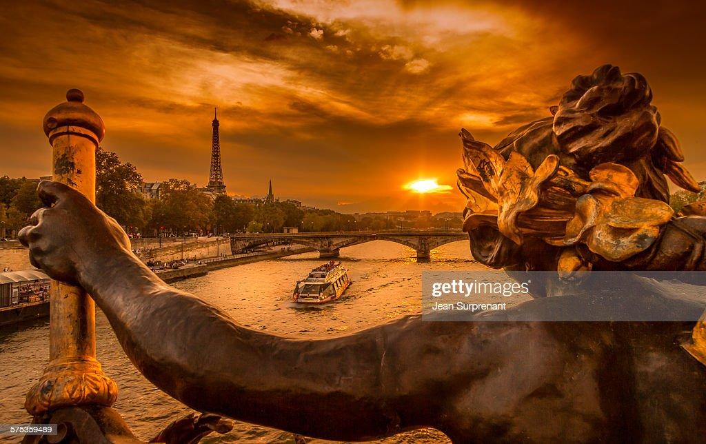 Pont Alexandre III sunset : Stock Photo