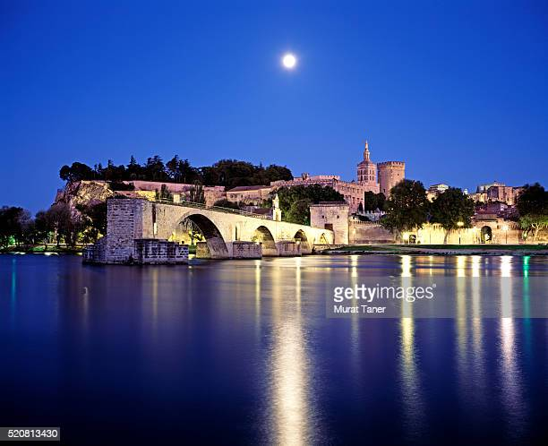 Pont d'Avignon Bridge and Popes Palace