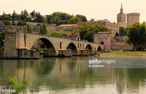 pont d'avignon, france - rhone stock pictures, royalty-free photos & images