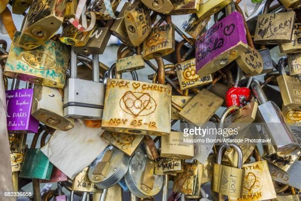 Pont de l'Archevêché, love locks (detail)