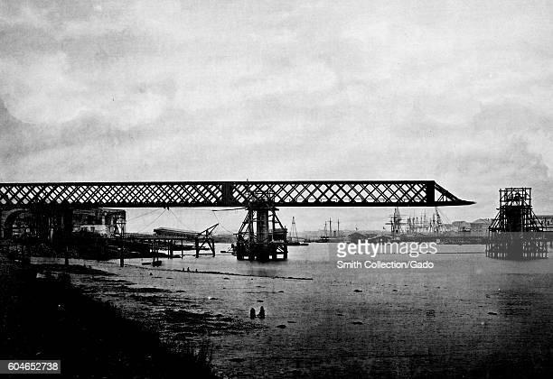 Pont de L'Orient bridge, France, 1883. From the New York Public Library. .