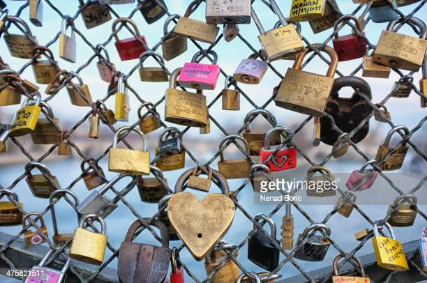 Pont des Arts is well known place were couples from all around the world symbolically seal their love.