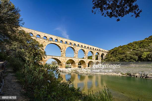 Pont du Gard, ancient Roman aqueduct, France