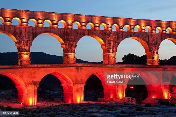 Pont du Gard por la noche