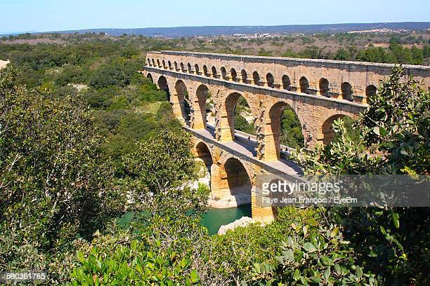 Pont Du Gard Over Gard River
