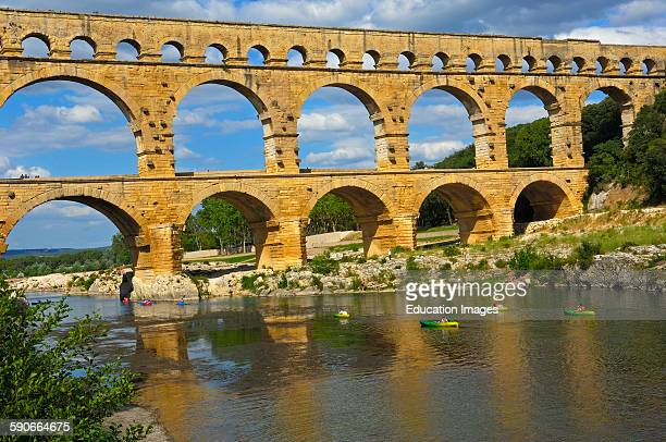 Pont du Guard Roman aqueduct Guard department Provence France