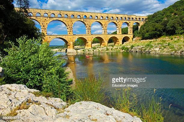 Pont du Guard Roman aqueduct Guard department Provence France