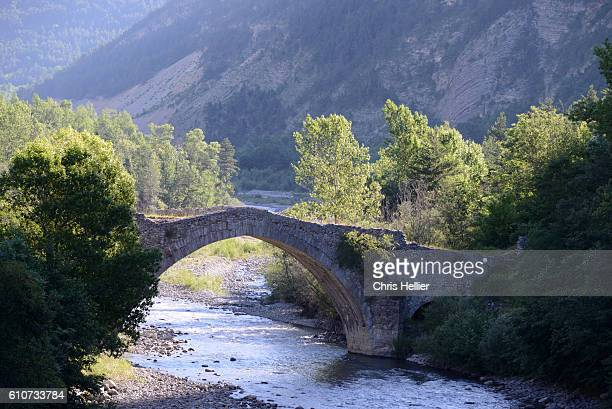 Pont du Moulin (1685-88) over Verdon River in the Haut Verdon Provence France