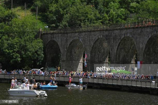 Pont Du Pertuiset / Lake / Fans / Public / Bridge / Boat / during the 106th Tour de France 2019, Stage 9 a 170,5km stage from Saint-Étienne to...