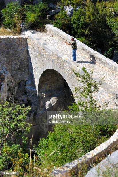 Pont roman sur l'Artuby CompssurArtuby Var PACA ProvenceAlpesCôte d'Azur France