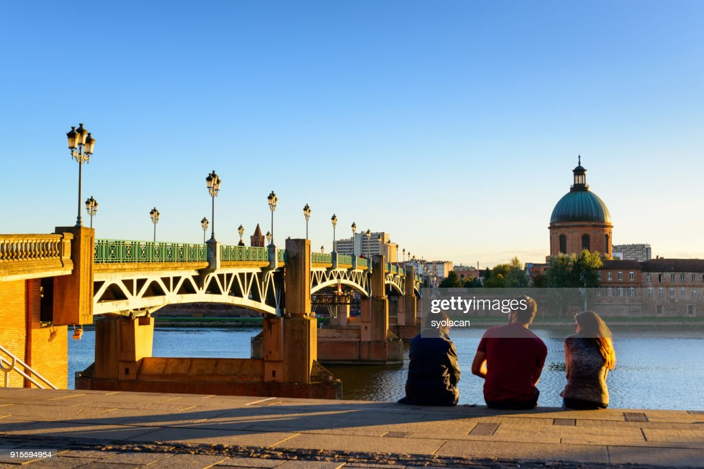 Pont Saint Pierre in Toulouse : Stock Photo