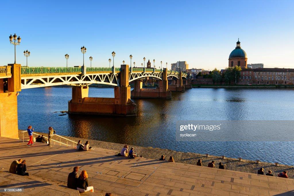 Pont Saint Pierre of Toulouse : Stock Photo