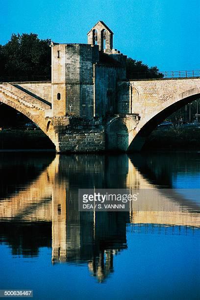 Pont SaintBenezet and Saint Nicholas chapel Avignon ProvenceAlpesCote d'Azur France 12th century