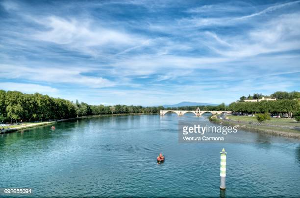 pont saint-bénézet - avignon, france - rhone stock pictures, royalty-free photos & images
