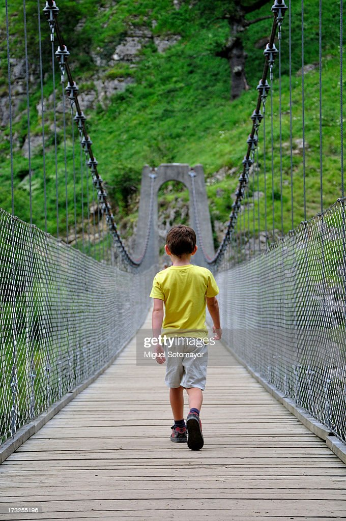 Pont Suspendu Dholzarte Stock Photo Getty Images