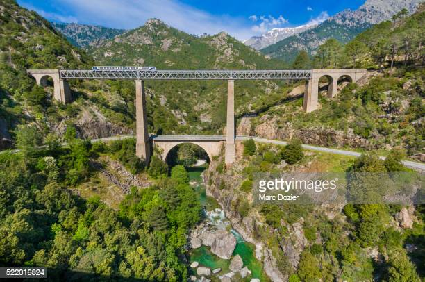 pont vecchio (vechju) in upper corsica - gustave eiffel stock pictures, royalty-free photos & images