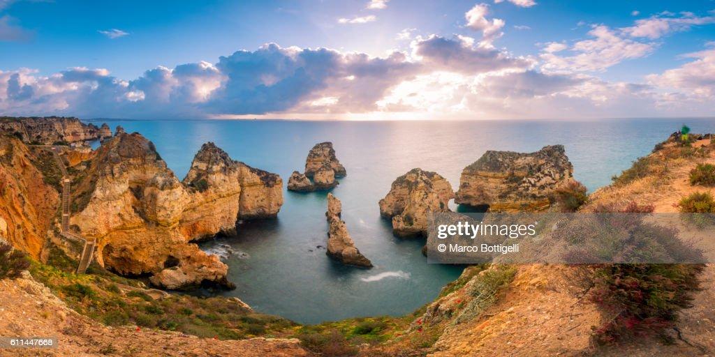 Ponta da Piedade, Lagos, Algarve, Portugal. : Foto de stock