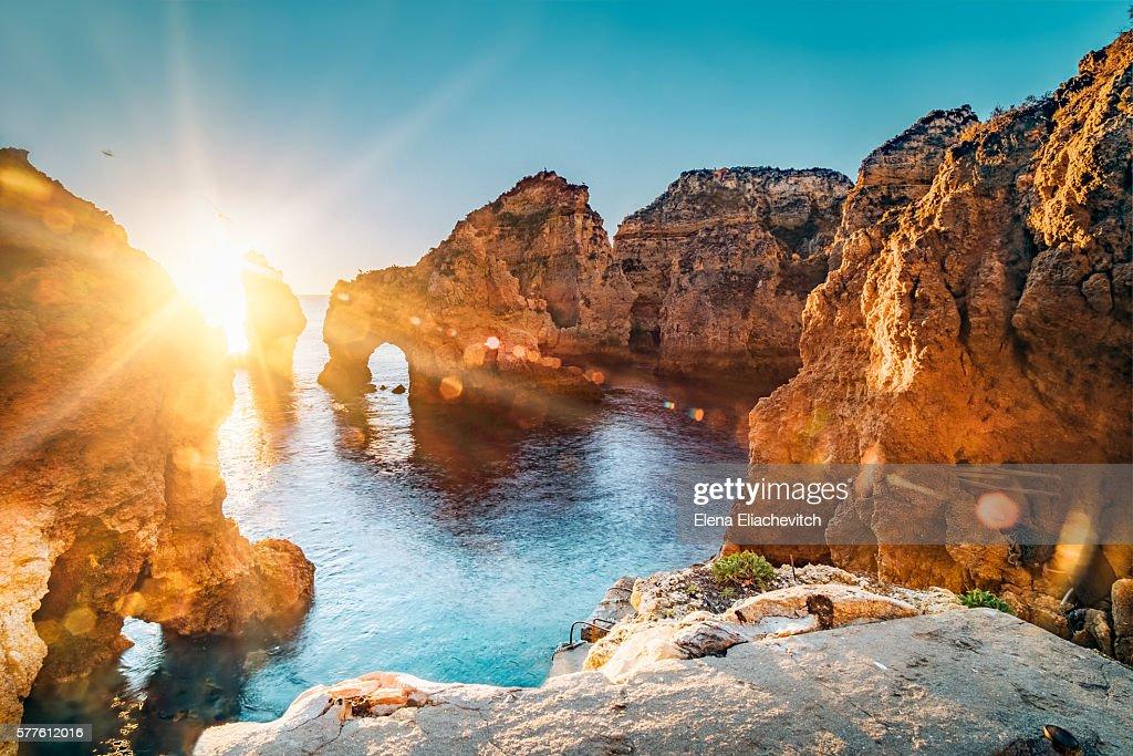 Ponta da Piedade,Algarve,Portugal : Foto de stock