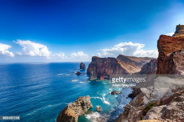 ponta de são lourenço • madeira coastline - portugal stock pictures, royalty-free photos & images