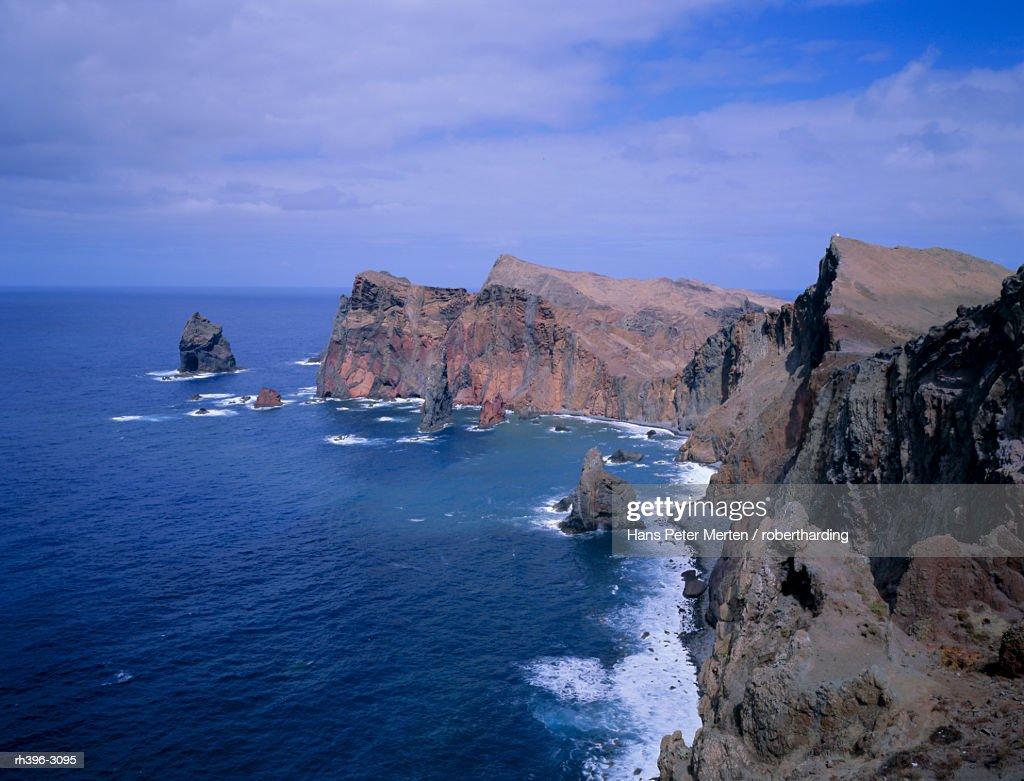 Ponta do Castelo, Atlantic coastline, Madeira, Portugal, Europe : Stockfoto