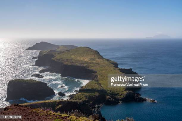 ponta do sao lourenco, madeira. - madeira island stock photos and pictures