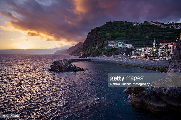 ponta do sol sunset - lareira stock pictures, royalty-free photos & images