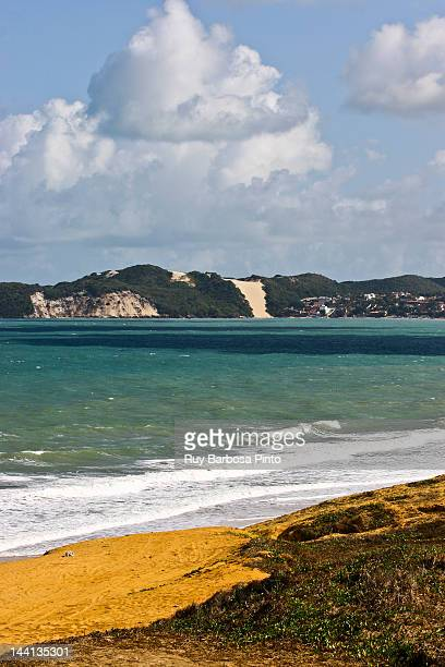 ponta negra beach and morro do careca far view - natal brazil stock pictures, royalty-free photos & images