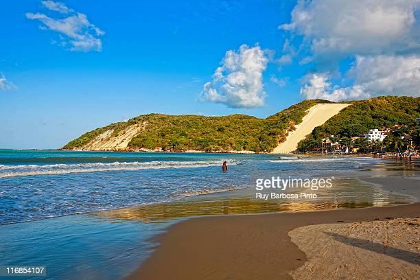 ponta negra beach and morro do careca - natal brazil stock pictures, royalty-free photos & images