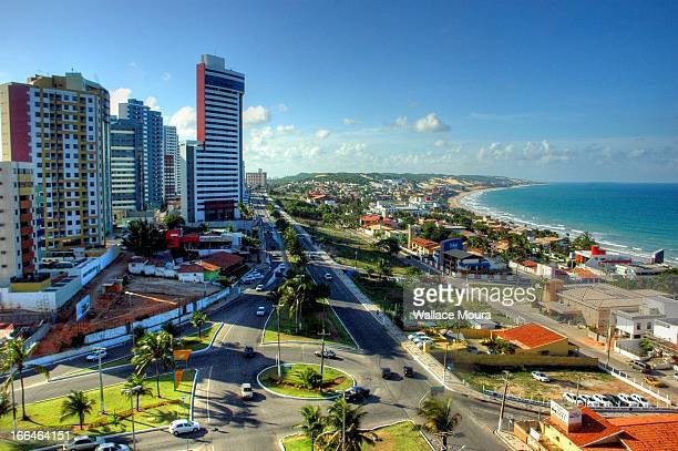 ponta negra beach - natal brazil stock pictures, royalty-free photos & images