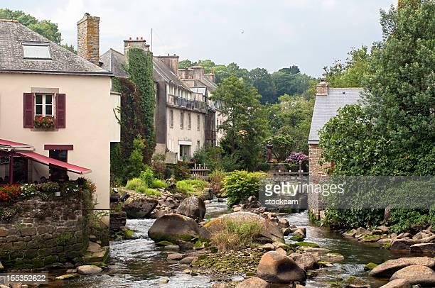 pont-aven, france - finistere stock photos and pictures