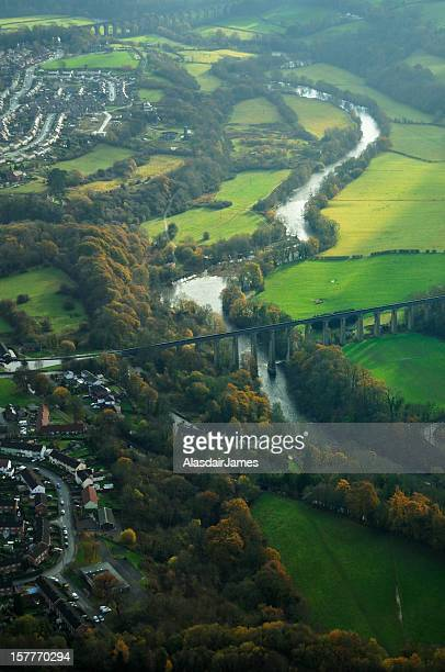 Pontcysyllte Aqueduct Aerial Portrait