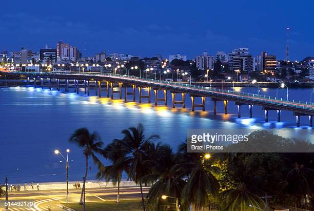 Ponte de Sao Luis in Sao Luis the capital and largest city of the Brazilian state of Maranhao is located on Ilha de Sao Luis in the Baia de Sao...