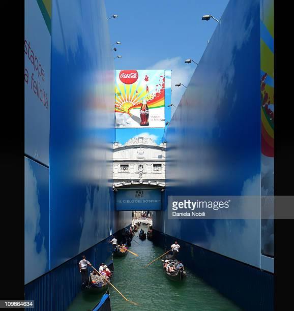 Ponte dei Sospiri in Venice Coca Cola wrapped