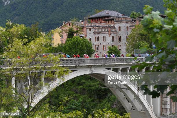 Ponte nelle Alpi / Peloton / Landscape / Bridge / during the 102nd Giro d'Italia 2019 Stage 18 a 222km stage from Valdaora to Santa Maria di Sala...
