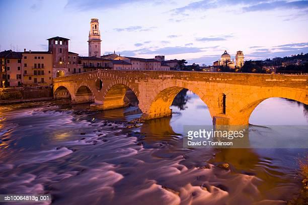 Ponte Pietra bridge over River Adige