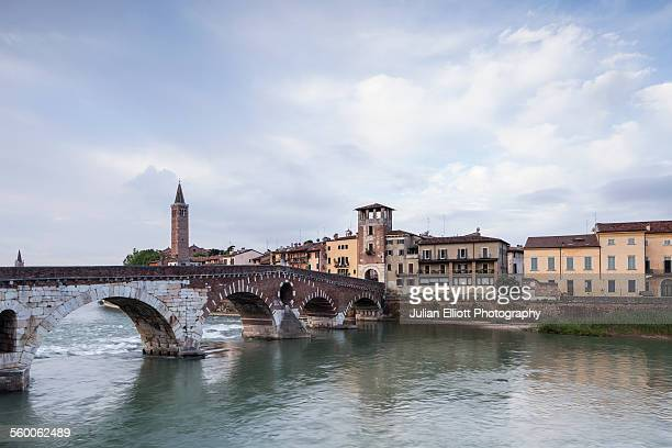 Ponte Pietra in the historic centre of Verona